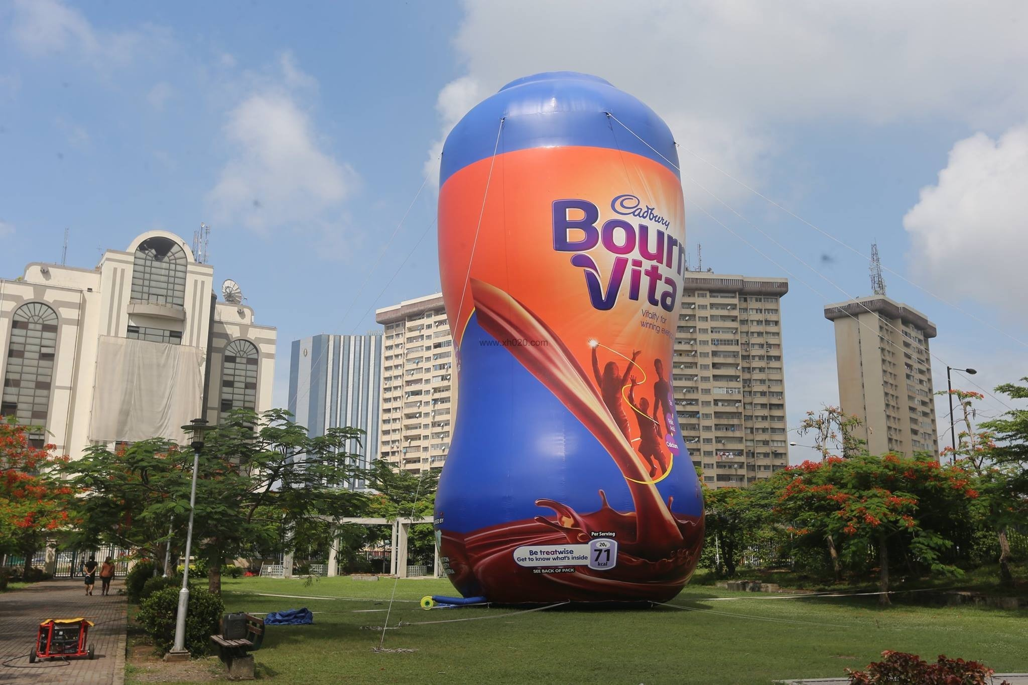 Bournvita bottle inflatable