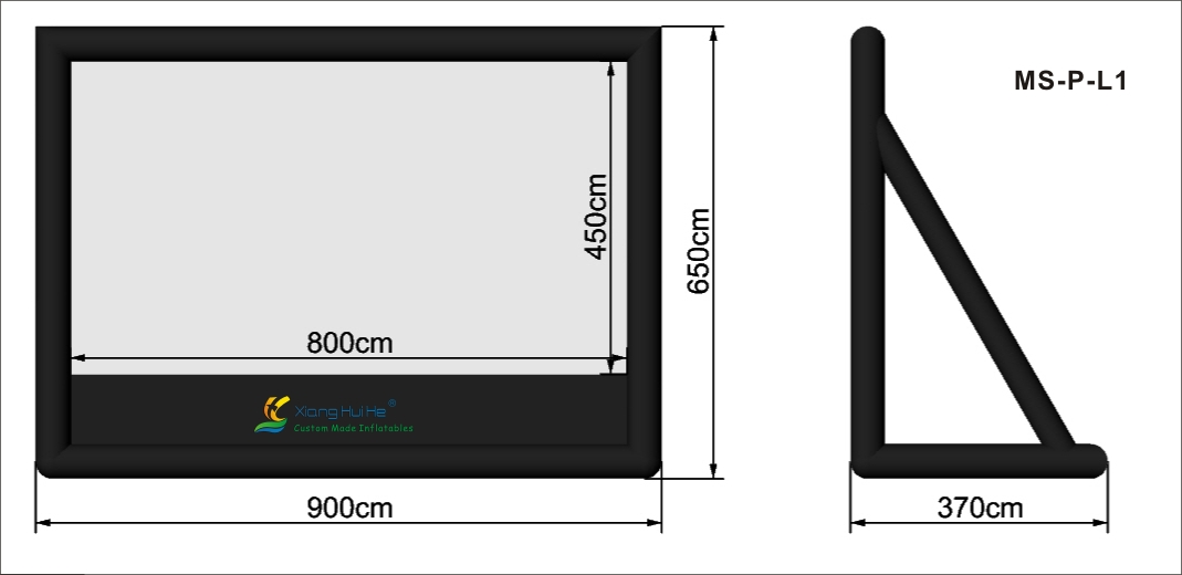 Sealed inflatable screens series MSPL1
