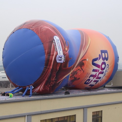 99ft tall Giant inflatable Bournvita Bottle