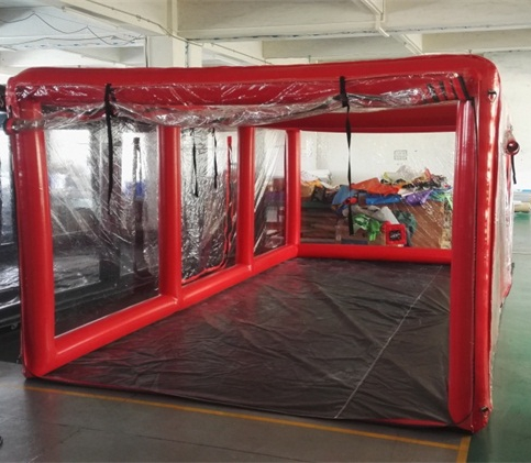 inflatable car garage show case