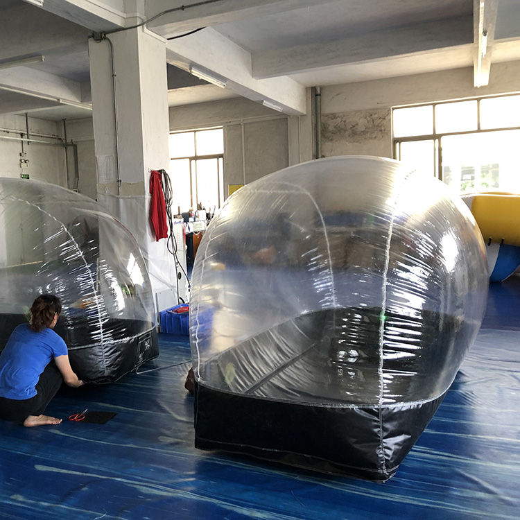 Inflatable motorcycle bike capsule