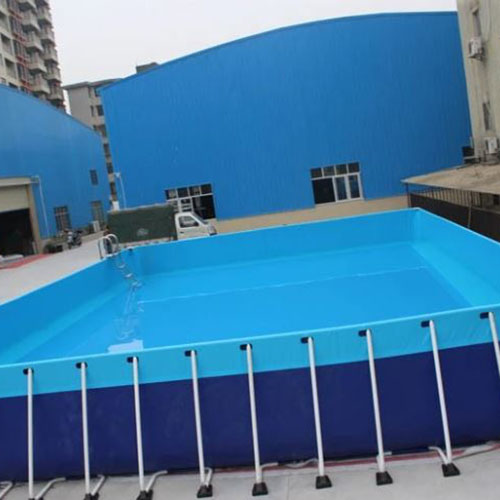 Metal frame swimming pool
