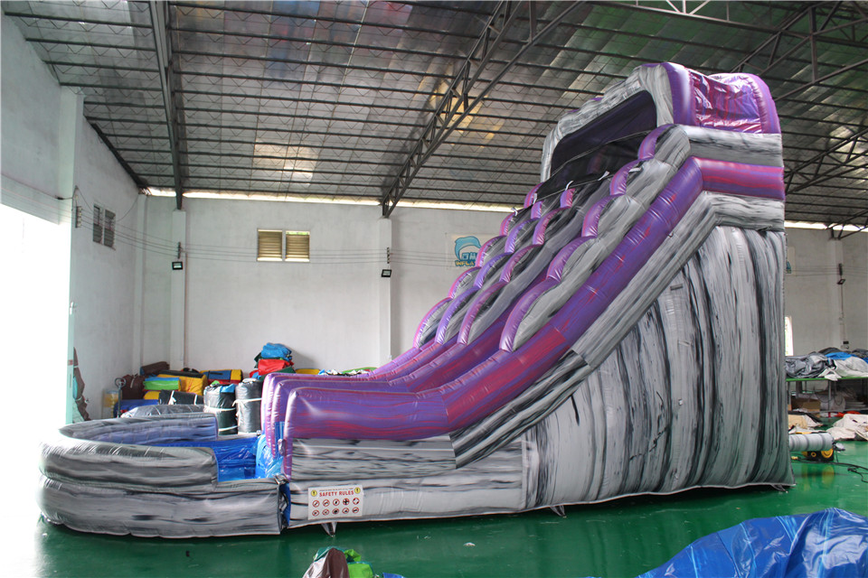 Inflatable Marble Purple Slide for Sale