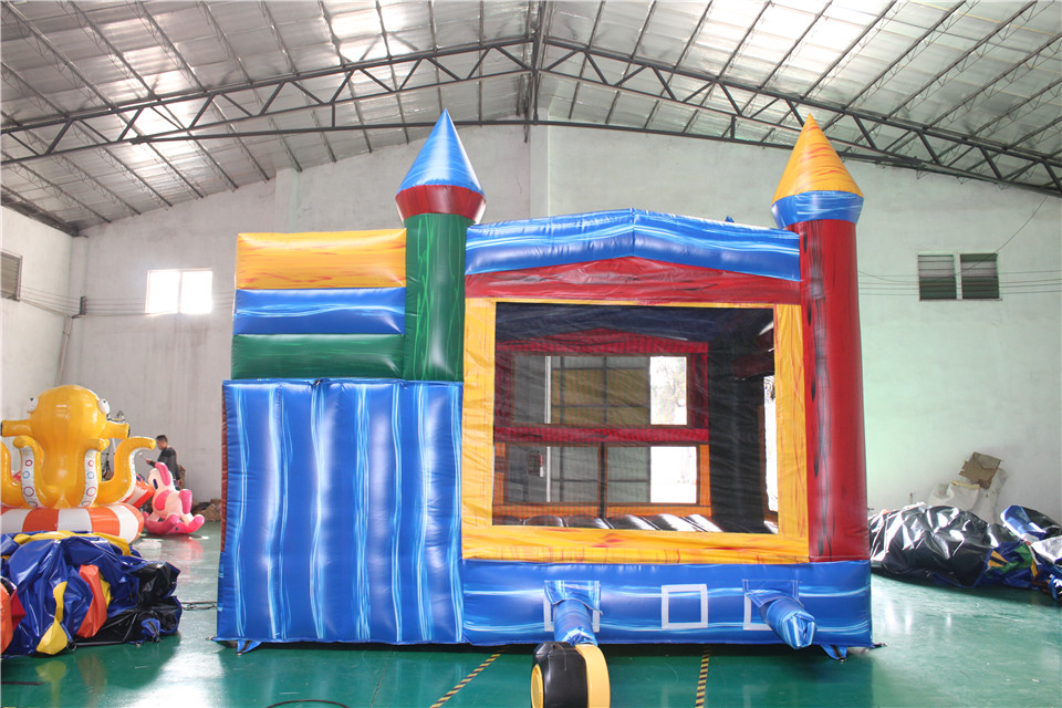 Blue Panel Castle Combo Bounce with Slide