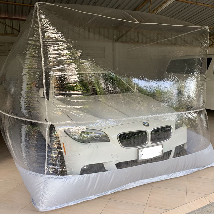 Indoor inflatable car capsule